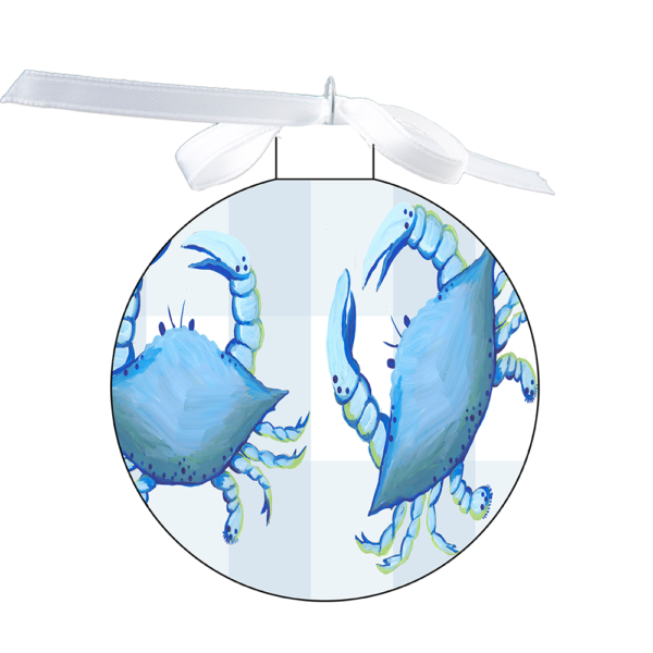 photo of the 80mm Ornament with blue crabs