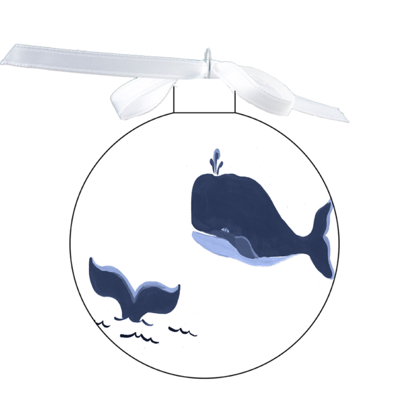 photo of the 80mm Ornament with Whale & Whale tail design