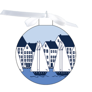 photo of the 80mm Ornament Fully surrounded with Coastal Village design